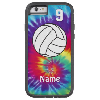 Cool Personalized Tie Dye Volleyball Phone Cases