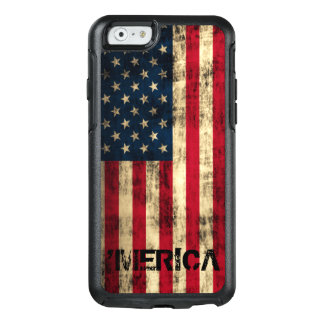 Cool Personalized Vintage Grunge 'Merica Flag OtterBox iPhone 6/6s Case
