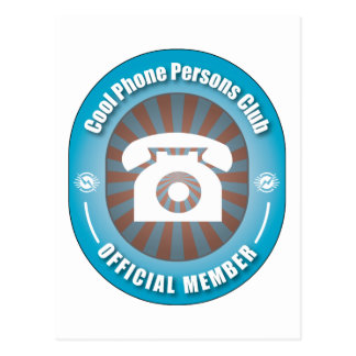 Cool Phone Persons Club Postcard