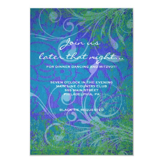 COOL PHOTO COLLAGE Bat Mitzvah Party Card