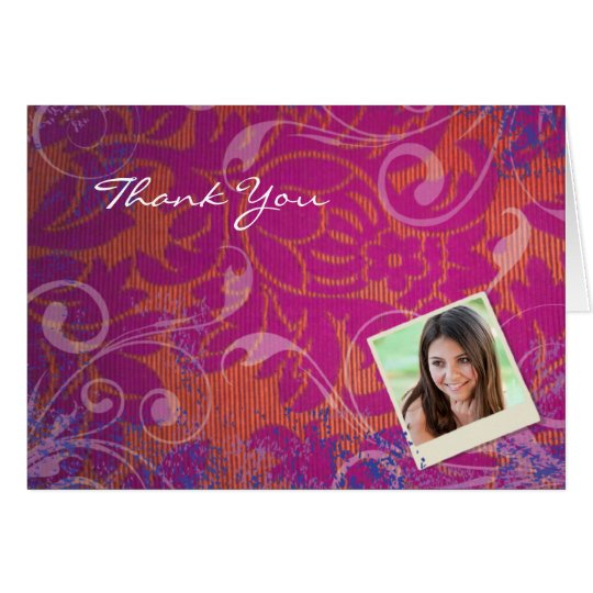 COOL PHOTO COLLAGE Folded Thank You Card