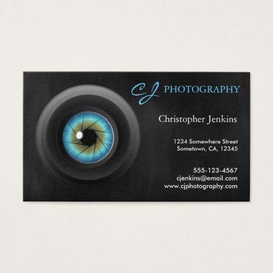 Cool Photography Blue Eye Camera Lens Photographer Business