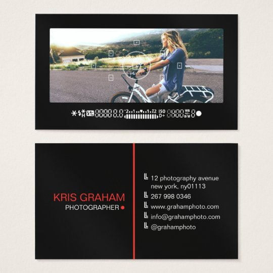 Cool photography camera viewfinder modern black business card cool photography camera viewfinder modern black business card colourmoves
