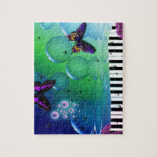 cool piano and nature coulours background jigsaw puzzle