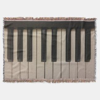 Cool Piano Keys Photo Print Design Throw Blanket
