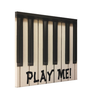 Cool Piano Keys Picture Design Canvas Print