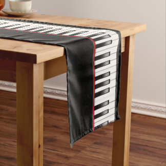 Cool Piano party music lovers table runner