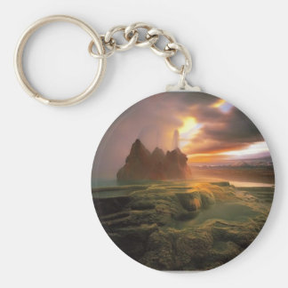 cool pic basic round button key ring
