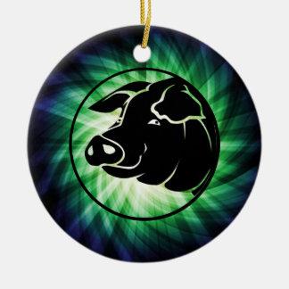 Cool Pig Head Christmas Ornament