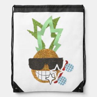Cool Pineapple Drawstring Bag