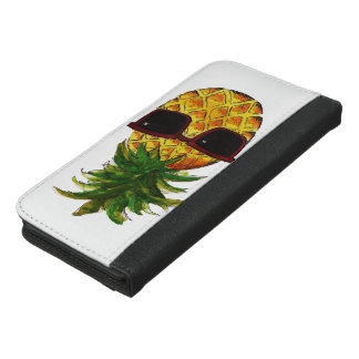 Cool pineapple iPhone 6/6s plus wallet case