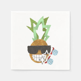 Cool Pineapple Napkins Disposable Serviettes