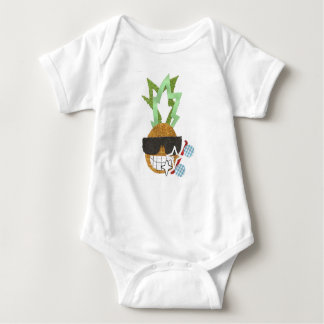 Cool Pineapple No Background Bodysuit