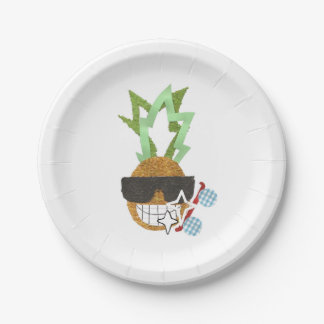 Cool Pineapple Paper Plate