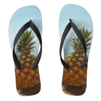 Cool Pineapple Picture Flip Flops