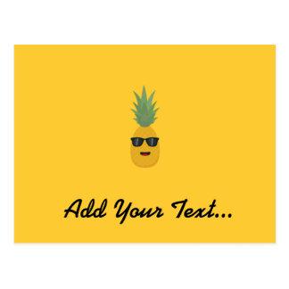 cool pineapple postcard