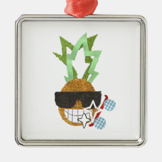 Cool Pineapple Premium Ornament