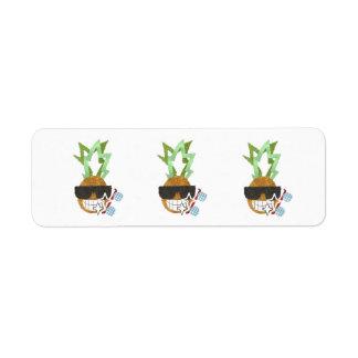 Cool Pineapple Return Address Labels