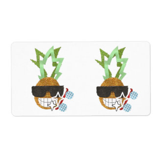 Cool Pineapple Shipping Labels