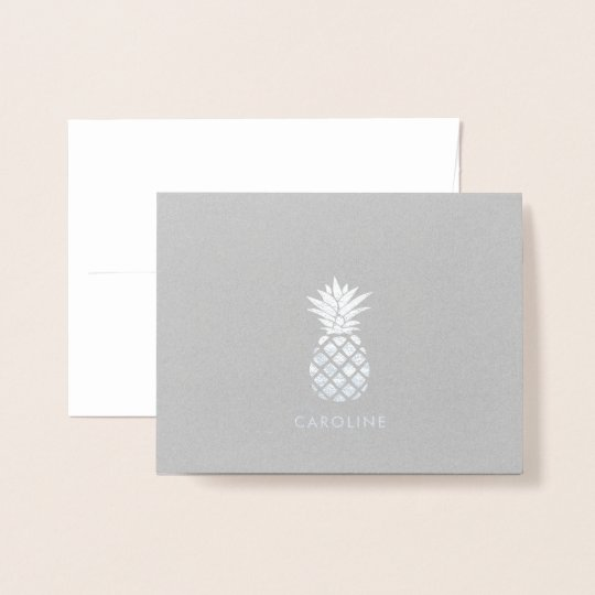 Cool Pineapple Thank You Foil Card