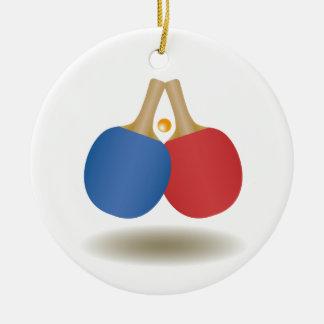 Cool Ping Pong Emblem 2 Round Ceramic Decoration