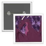 Cool Pink And Purple Dragon Buttons