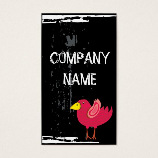 Cool Pink Bird Business Card