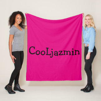 Cool pink blancket CooLjazmin merch Fleece Blanket