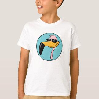 cool pink flamingo in sunglasses T-Shirt