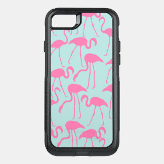 Cool Pink Flamingo Pattern OtterBox Commuter iPhone 8/7 Case