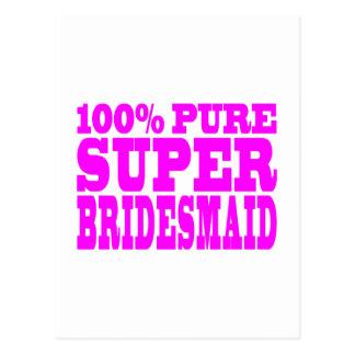 Cool Pink Gifts 4 Bridesmaids Super Bridesmaid Postcards