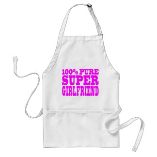 Cool Pink Gifts 4 Girlfriends : Super Girlfriend Standard Apron