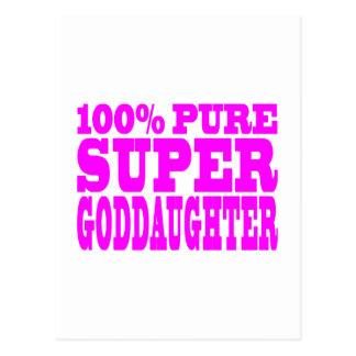 Cool Pink Gifts 4 Goddaughters : Super Goddaughter Postcard