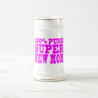 Cool Pink Gifts 4 New Moms : Super New Mom Beer Steins