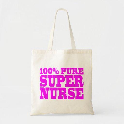 Cool Pink Gifts 4 Nurses 100% Pure Super Nurse Canvas Bag