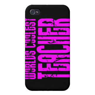 Cool Pink Gifts 4 Teachers Worlds Coolest Teacher Cover For iPhone 4