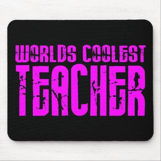 Cool Pink Gifts 4 Teachers Worlds Coolest Teacher Mousepad