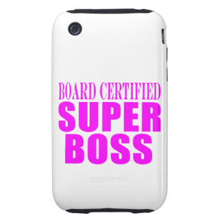 Cool Pink Gifts for Bosses : Super Boss iPhone 3 Tough Cover