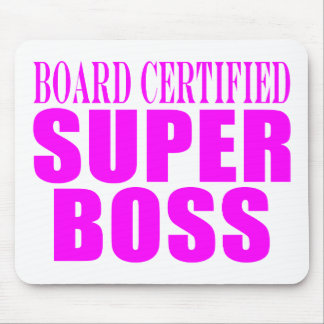 Cool Pink Gifts for Bosses : Super Boss Mouse Mat