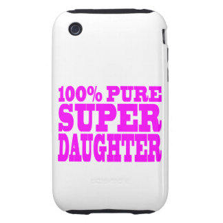 Cool Pink Gifts for Daughters : Super Daughter iPhone 3 Tough Case