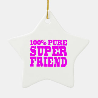 Cool Pink Gifts for Friends : Super Friend Christmas Ornament