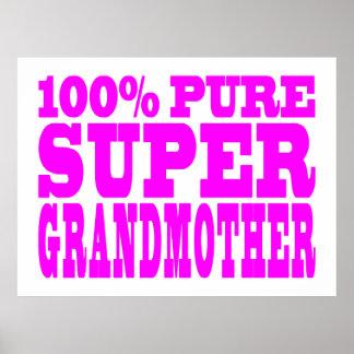 Cool Pink Grandmothers Super Grandmother Poster