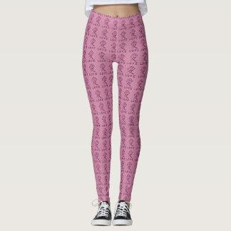 Cool Pink Japanese Love Symbol Leggings