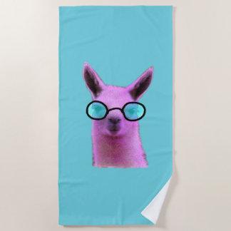 Cool Pink Llama! Beach Towel