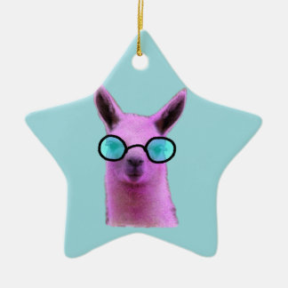 Cool Pink Llama! Christmas Ornament