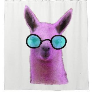 Cool Pink Llama! Shower Curtain