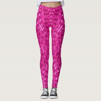 Cool Pink Mermaid Scales Mandala Leggings