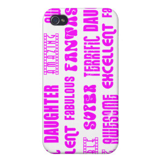 Cool Pink Modern Design 4 Daughters Positives iPhone 4/4S Covers