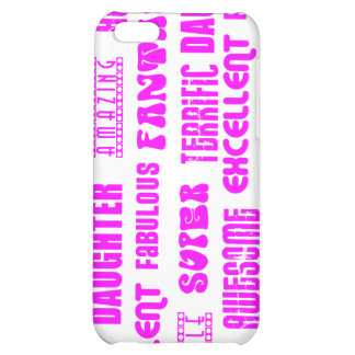 Cool Pink Modern Design 4 Daughters Positives iPhone 5C Cases