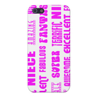 Cool Pink Modern Design 4 Nieces Positives Words Cases For iPhone 5